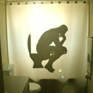 The Thinker SHOWER CURTAIN Rodin Auguste by CustomShowerCurtains