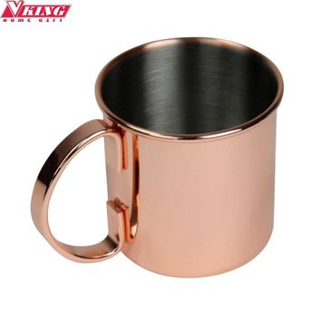 V-KING Stainless steel Moscow Mule Copper mug Beer Cup Copper mug Rose gold Drinkware Free shipping