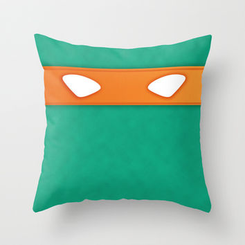 Michelangelo TMHT Throw Pillow by DesignDinamique