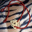 Handmade Celtic Knot Necklace with Red Seed Beads 20 inches | peaceloveandallthingsjewelry - Jewelry on ArtFire