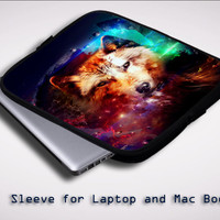 wolf abstract Z1431 Sleeve for Laptop, Macbook Pro, Macbook Air (Twin Sides)