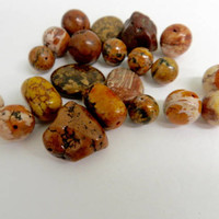 Brown Magnesite Beads Loose Mixed Assortment Stones Jewelry Making