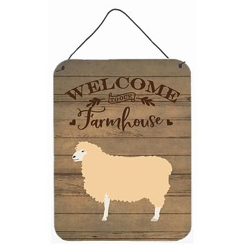 English Leicester Longwool Sheep Welcome Wall or Door Hanging Prints CK6918DS1216