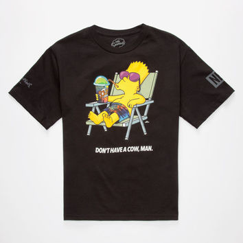 Neff X The Simpsons Don't Have A Cow Boys T-Shirt Black  In Sizes
