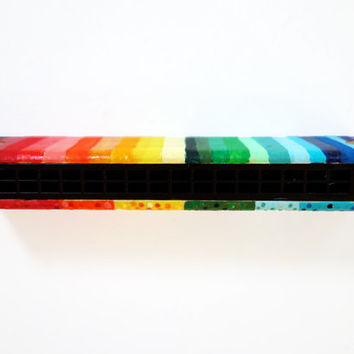Hand Painted Rainbow Harmonica