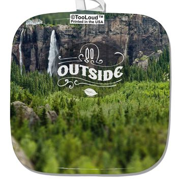 Beautiful Cliffs - Go Outside AOP White Fabric Pot Holder Hot Pad All Over Print by TooLoud