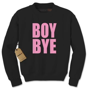 Boy Bye Pink Lemonade Adult Crewneck Sweatshirt