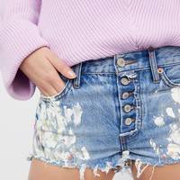 Free People Painters Denim Shorts