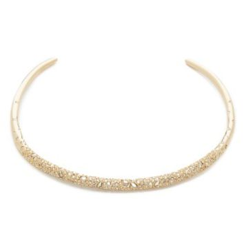 Crystal Encrusted Thin Collar Necklace