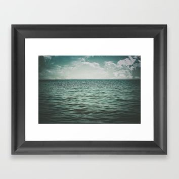 Into The Sea Of Lost Souls  Framed Art Print by Faded  Photos