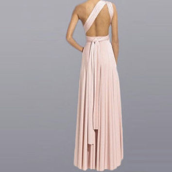 Bridesmaid Wrap Infinity Dress/ Multi Way Long Wedding Dress Custom order to your size