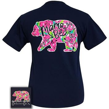 Mama Bear Floral - GG - Adult T-Shirt