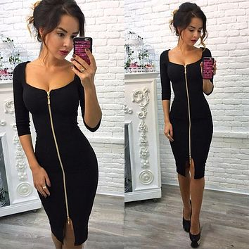 Spring Dresses 2018 Women Bodycon Dresses Fashion Sexy Club Dress Blue Red Black Ladies Mini Retro Party Wear Dress Vestidos