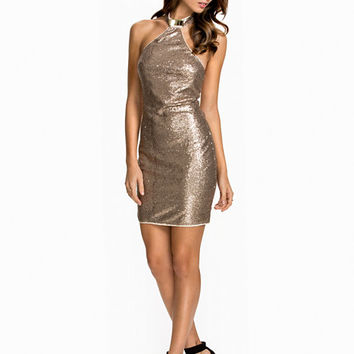 Metal Collar Dress, NLY One