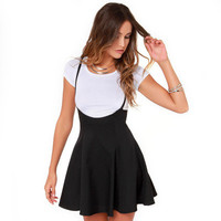 Women Fashion Slim High Waisted Spagehetti Strap  Party Dress Evening Cocktail Casual Mini A Line Dress _ 3355