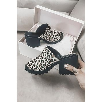 Fair Play Disco Leopard Mules