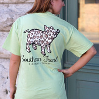 Leopard Proud Pig Tee by SOUTHERN TREND {Celadon}