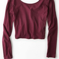 AEO Women's Don't Ask Why Ballet Top