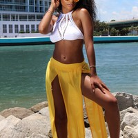 ELEGANT Passion JAZMINE MESH MAXI BEACH SKIRT, MIAMI BEACHWEAR