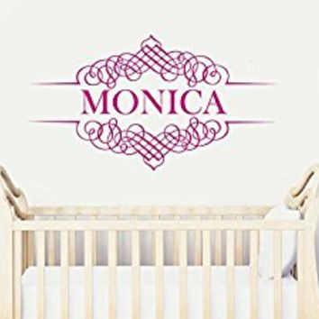 Wall Decal Vinyl Sticker Decals Art Decor Design Monogram Personalized Custom Name Family Kids Nursery Wedding Gift Dorm Bedroom(r759)
