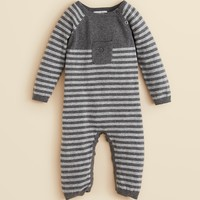 Angel Dear Infant Boys' Iconic Striped Coverall - Sizes 0-12 Months