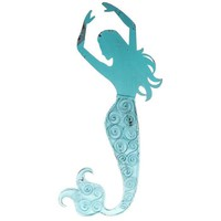Turquoise Swimming Mermaid Wall Sign
