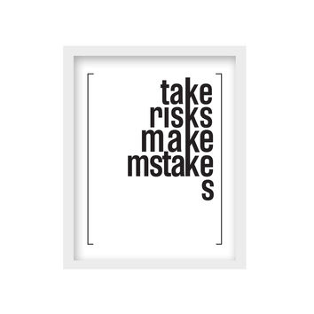 Framed Words – Take Risks - Medium