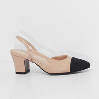 TWO-TONE SLINGBACK PUMPS