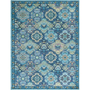 Anika Rug | Light Blue Teal+Aqua