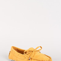 Moccasin Bow Loafer Flat