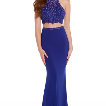 Alyce 60020 Two Piece Cobalt Blue Beaded Dress