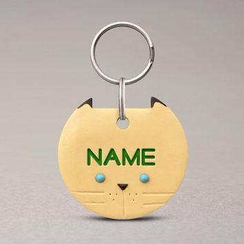 Siamese Cat ID Tag - Custom Pet ID Tag, Handmade Cat Name Tag, Cute Pet Accessories