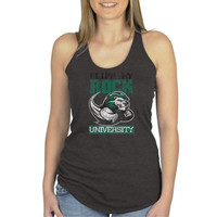 Slippery Rock Pride Ladies Distressed Secondary Racerback Tank Top - Charcoal