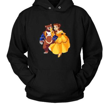 ESBP7V Bear Our Guest Hoodie Two Sided