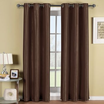 CHOCOLATE Soho Grommet Thermal coating Blackout Window Curtain Panel (Single Panel)