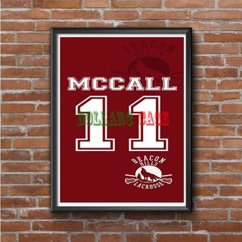 Teen Wolf McCall Lacrosse Jersey Photo Poster 16x20 18x24