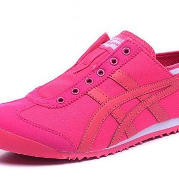 asics japan onitsuka tiger pink women s running shoes sneakers trainers  number 1
