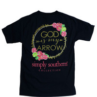 Simply Southern God is My Arrow Tee - Navy