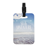 "Susannah Tucker ""Seek Adventure"" Beach Decorative Luggage Tag"