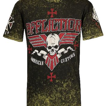 Affliction American Customs Bullet Bars T-Shirt