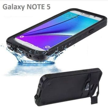 For galaxy NOTE 5 / S5 Original IP68 Waterproof Case For Samsung Galaxy S5 i9600 life water Shock Dirt Proof Protective Cover
