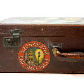 Vintage Suitcase / Vintage Luggage / Old Suitcase