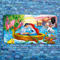 Cute Disney Little Mermaid iPhone Case Romantic Boat Scene Ariel Phone Case iPhone 4 iPhone 5 iPhone 4s iPhone 5s iPhone 5c Case