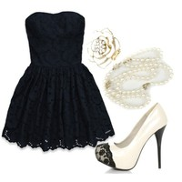 Black and White (Abercrombie & Fitch Leanne Dress $35)
