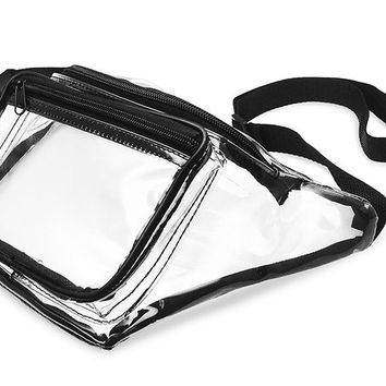 Clear Fanny Pack. NFL Approved Waist Bag for Events, Games, and Concerts Transparent
