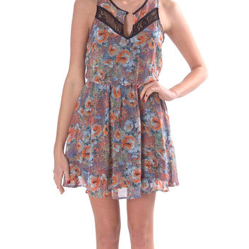 Wildflower Sleeveless Chiffon Dress - Floral