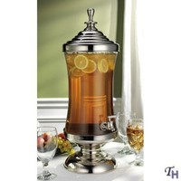 Godinger Monticello Shannon Crystal Metal and Glass Beverage, Drink, Punch, Dispenser 2.5 Gallon