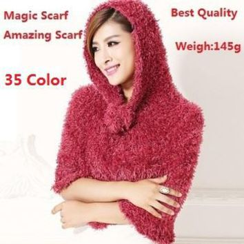 Factory Sale Fashion 35 Color DIY Multifunction Magic Scarf Amazing Echarpes Shawls Pashmina Scarves For Women/Ladies Gifts