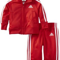 adidas Baby-Boys Infant ITB Iconic Tricot Set, Bright Red, 3 Months
