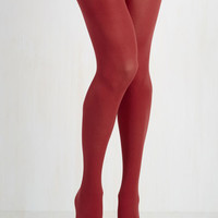 Minimal Layer It On Tights in Cherry by ModCloth